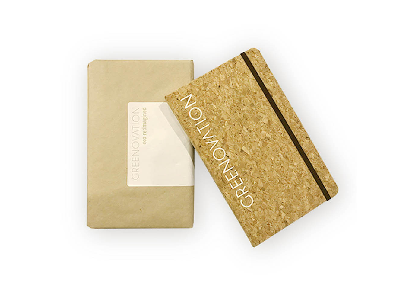 Custom Printed Cork Hardcover Notebook with Strap