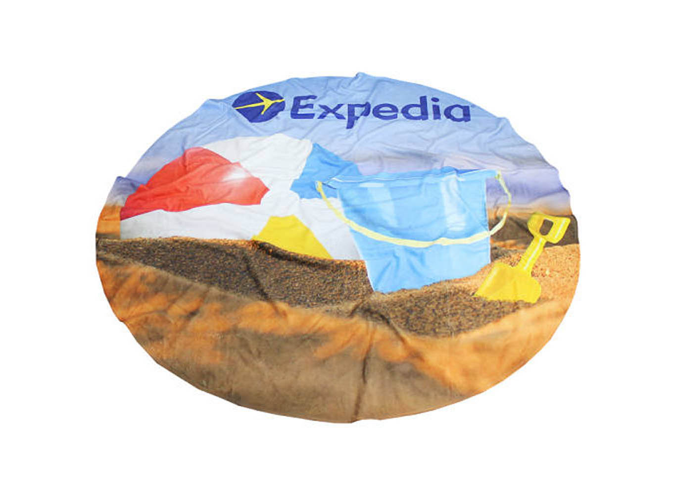 Custom Print Round Beach Towel