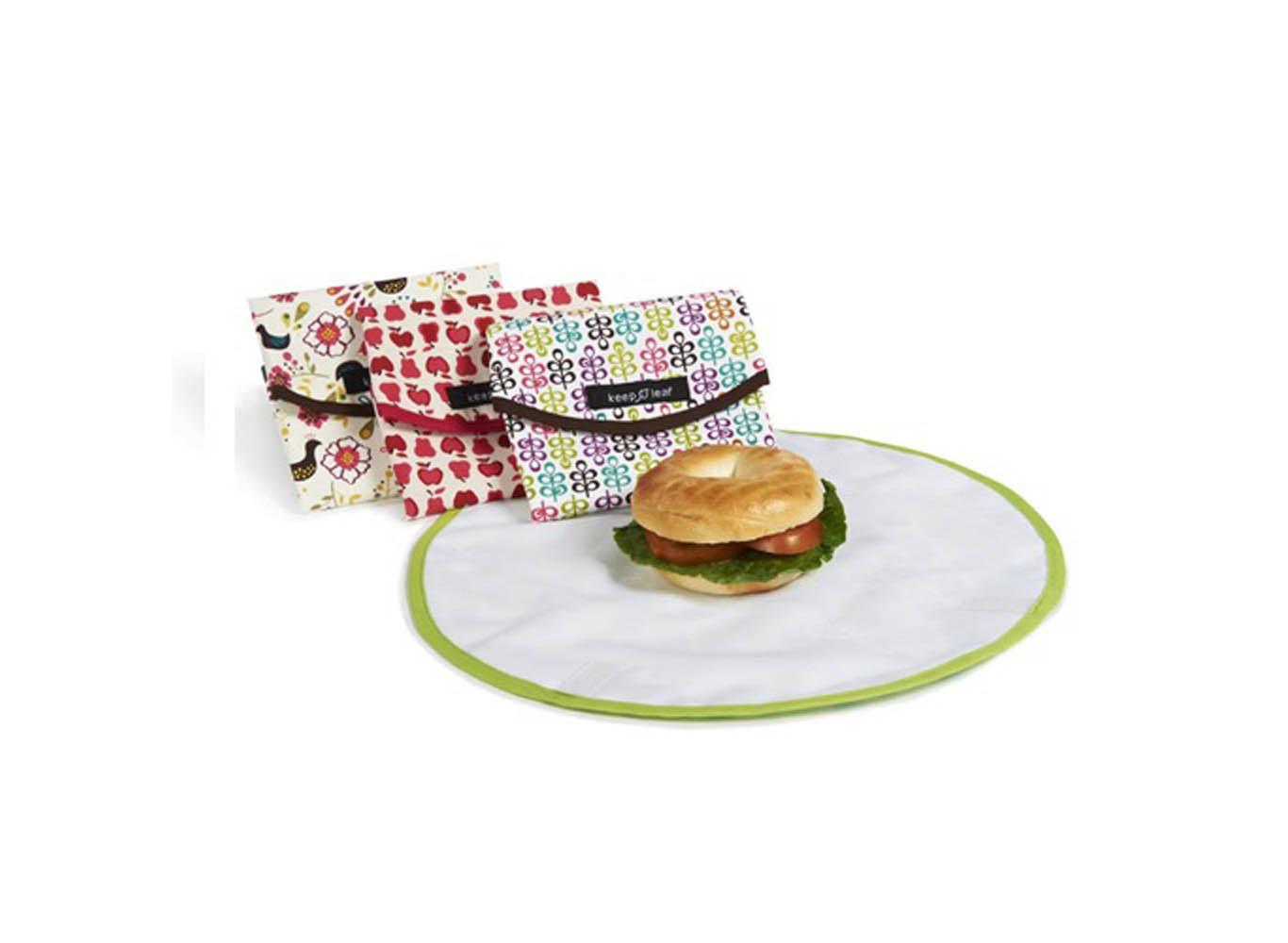 4-Fold Custom Printed Reusable Round Food Wrap