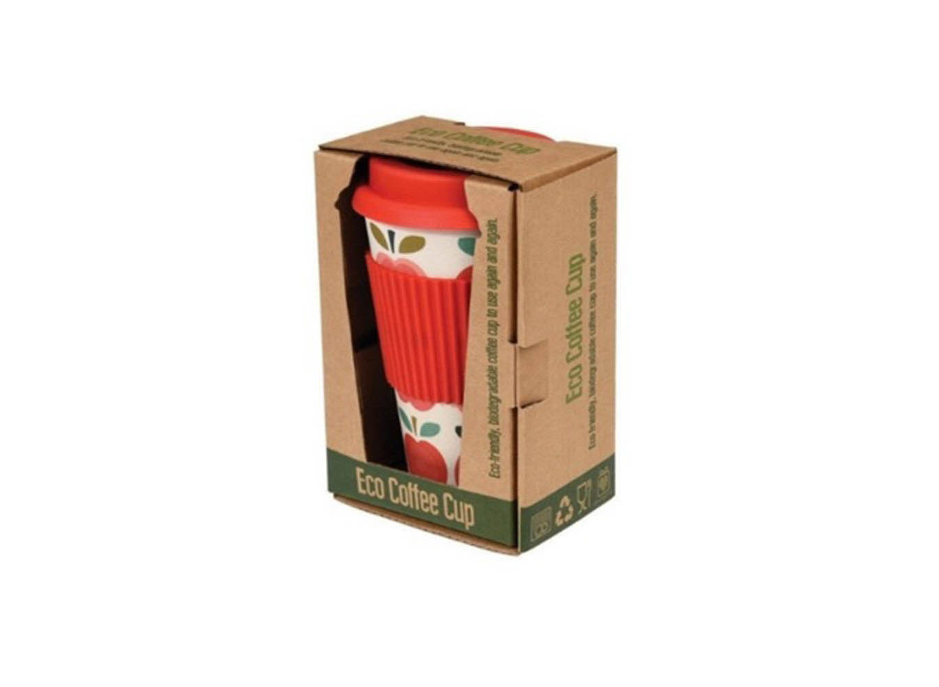 Custom Print Reusable Bamboo Coffee Cup Eco Packaging