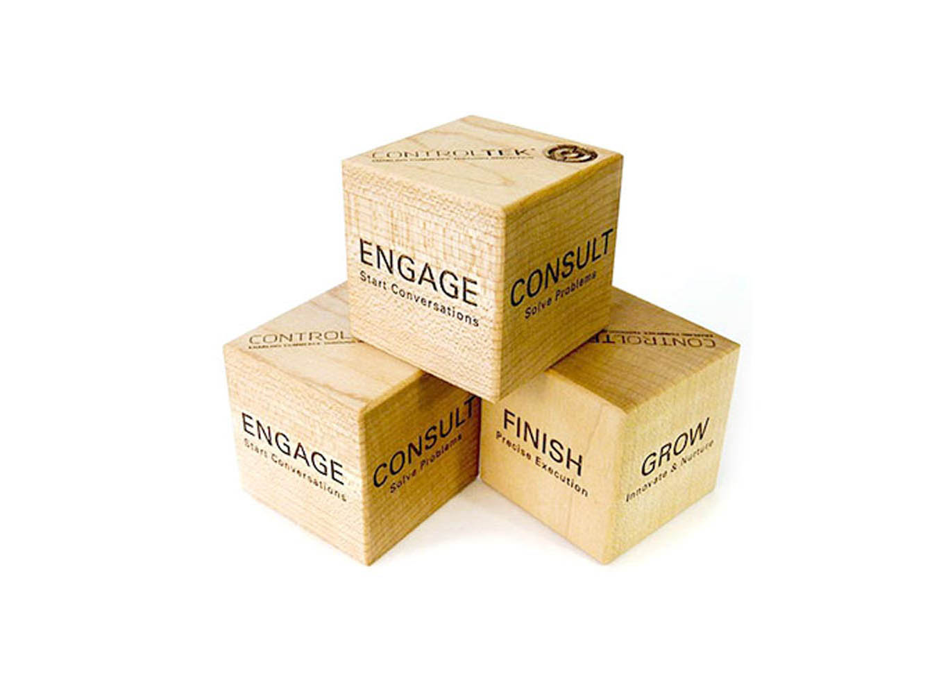 Eco Personalized Wooden Blocks