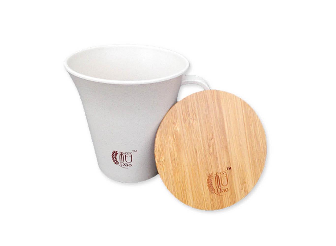 Biodegradable Fiber Mug with Bamboo Lid
