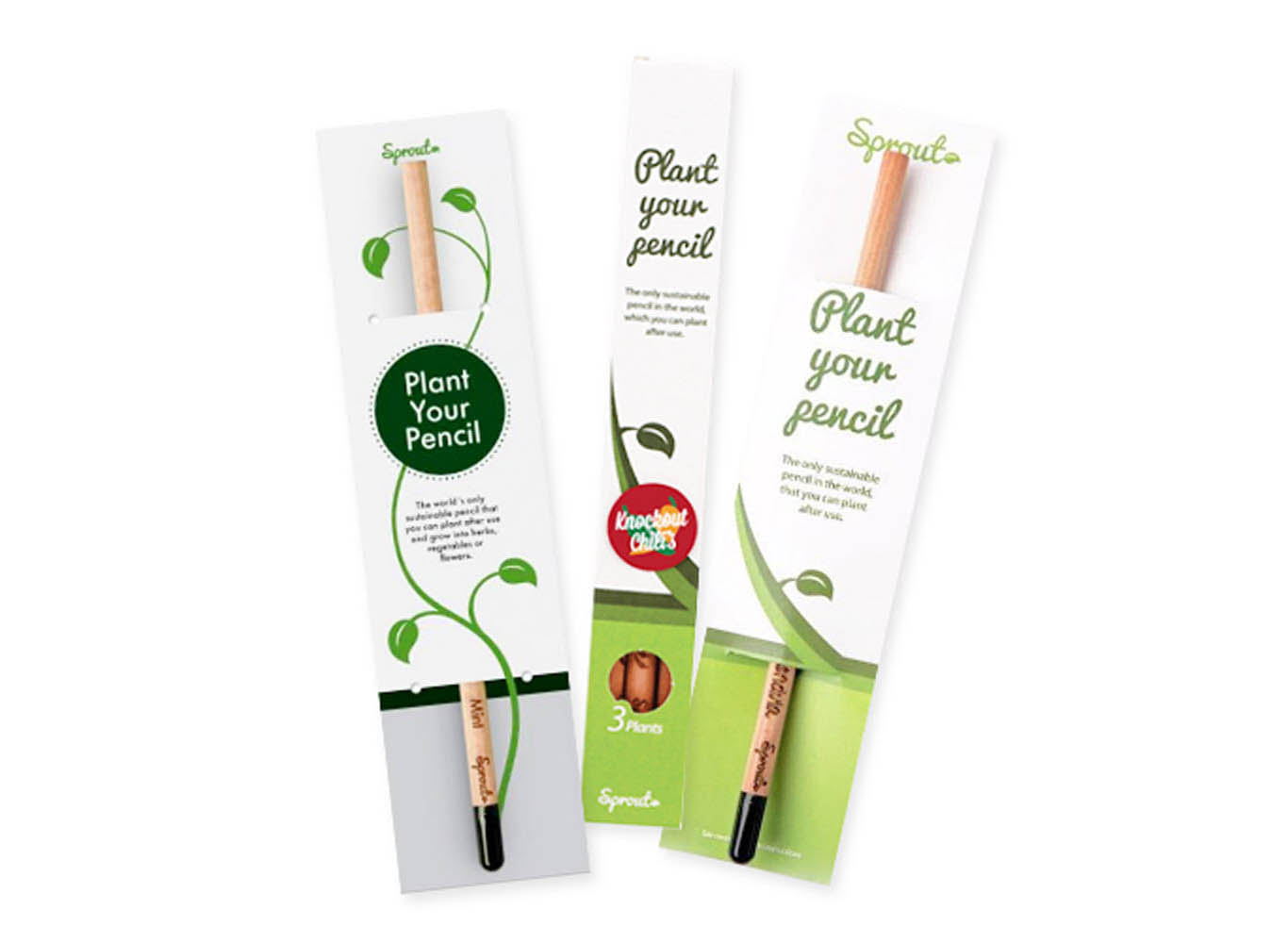 Custom Engraved Herb Plant Seed Sprout Pencil