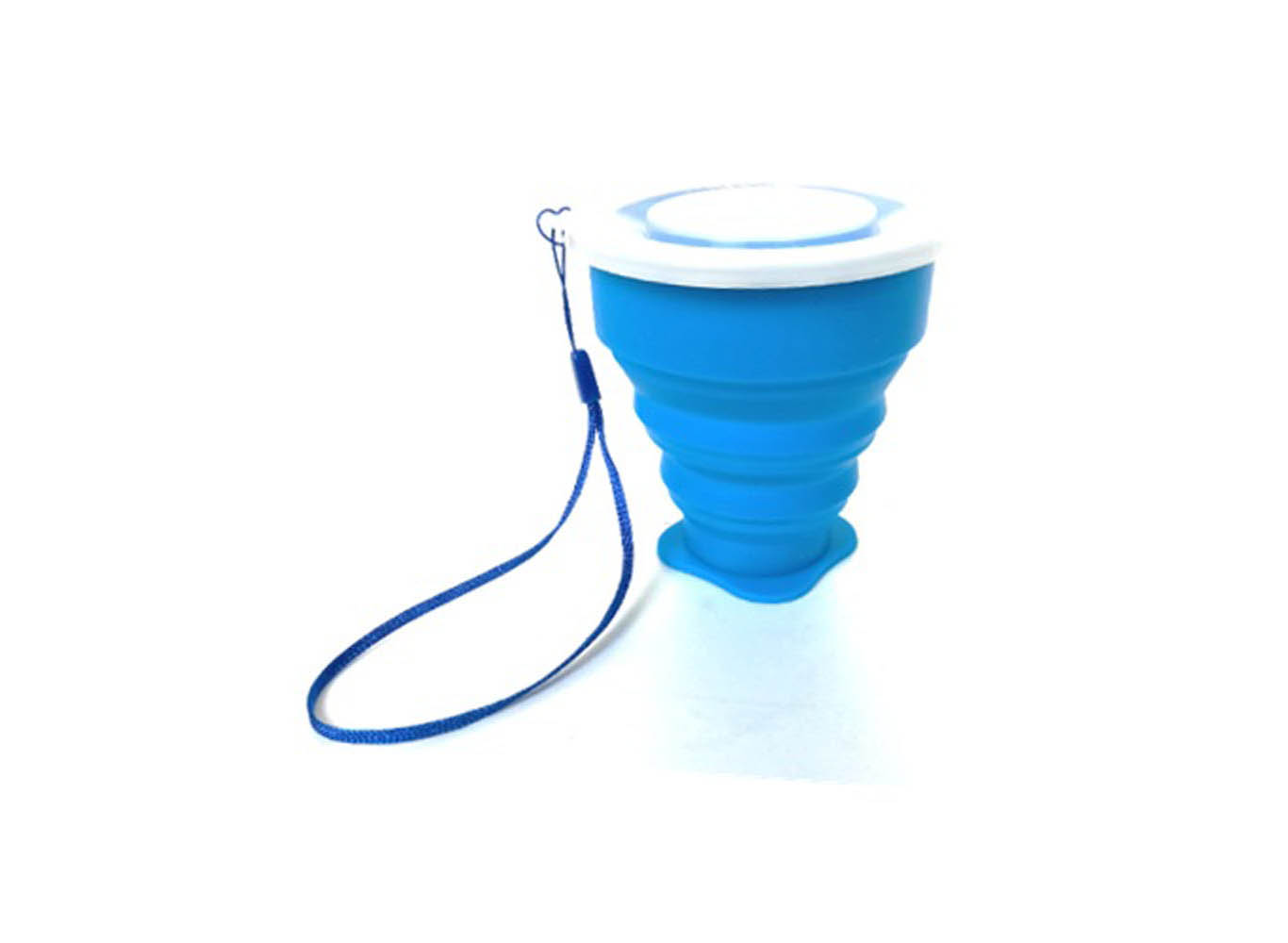Custom Color Collapsible Silicone Cup w/ Strap & Lid