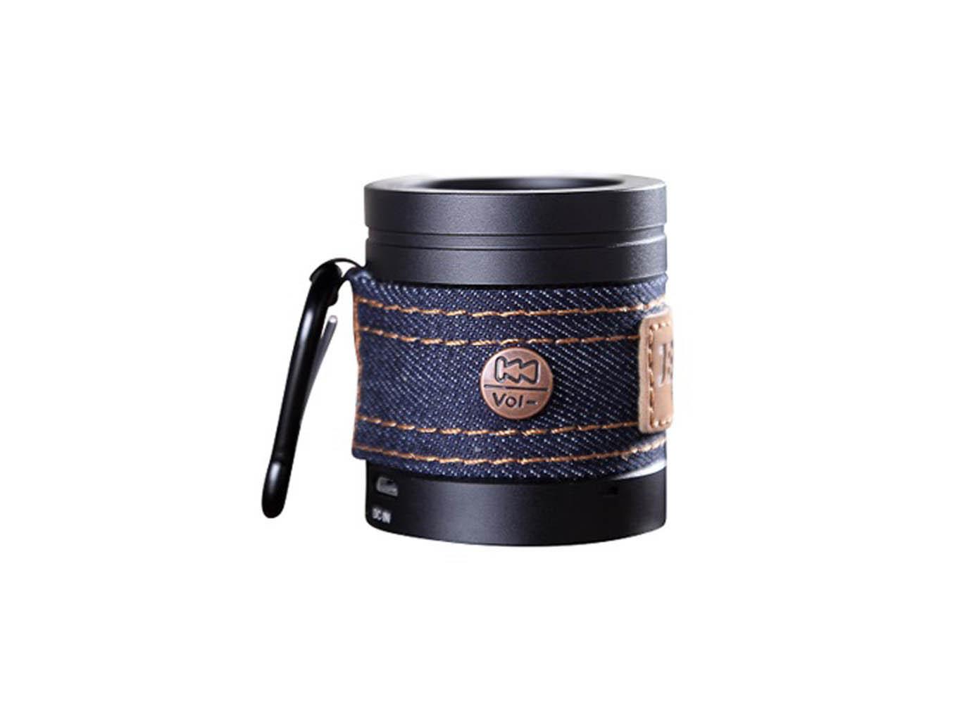Custom Color Jean Bluetooth Portable Speaker Carabiner Silver/Black