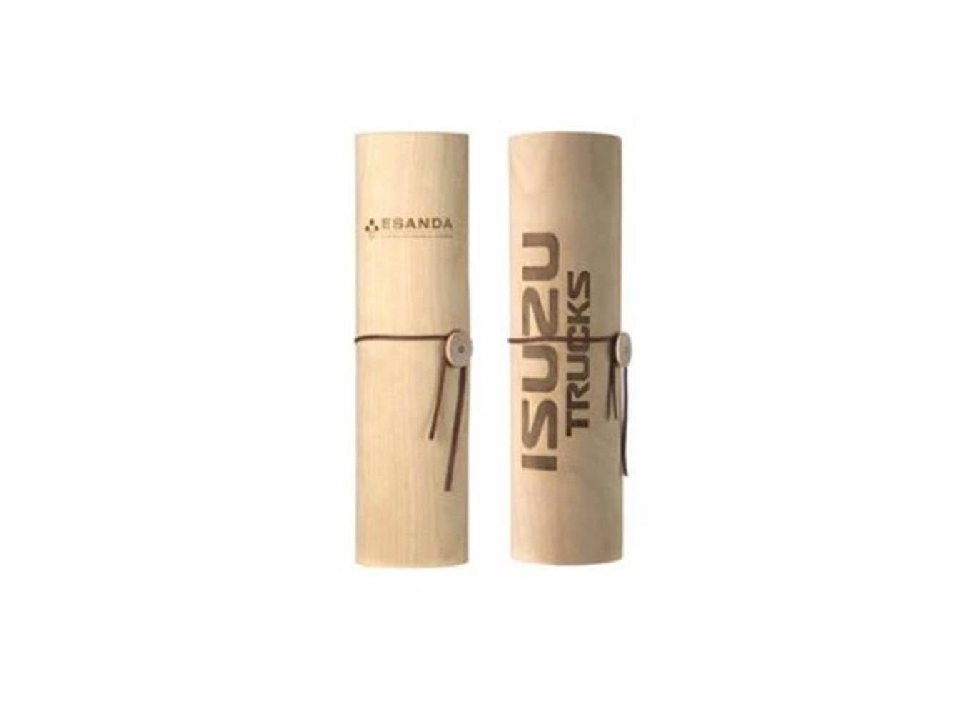 Custom Printed Wooden Wine Bottle Cylinder Tube Box