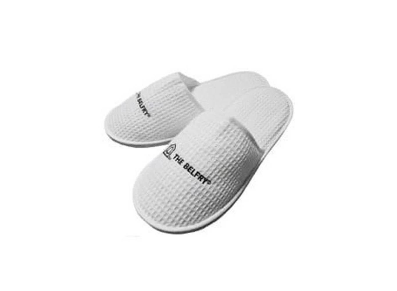 Custom Printed Eco Cotton Waffle Slippers