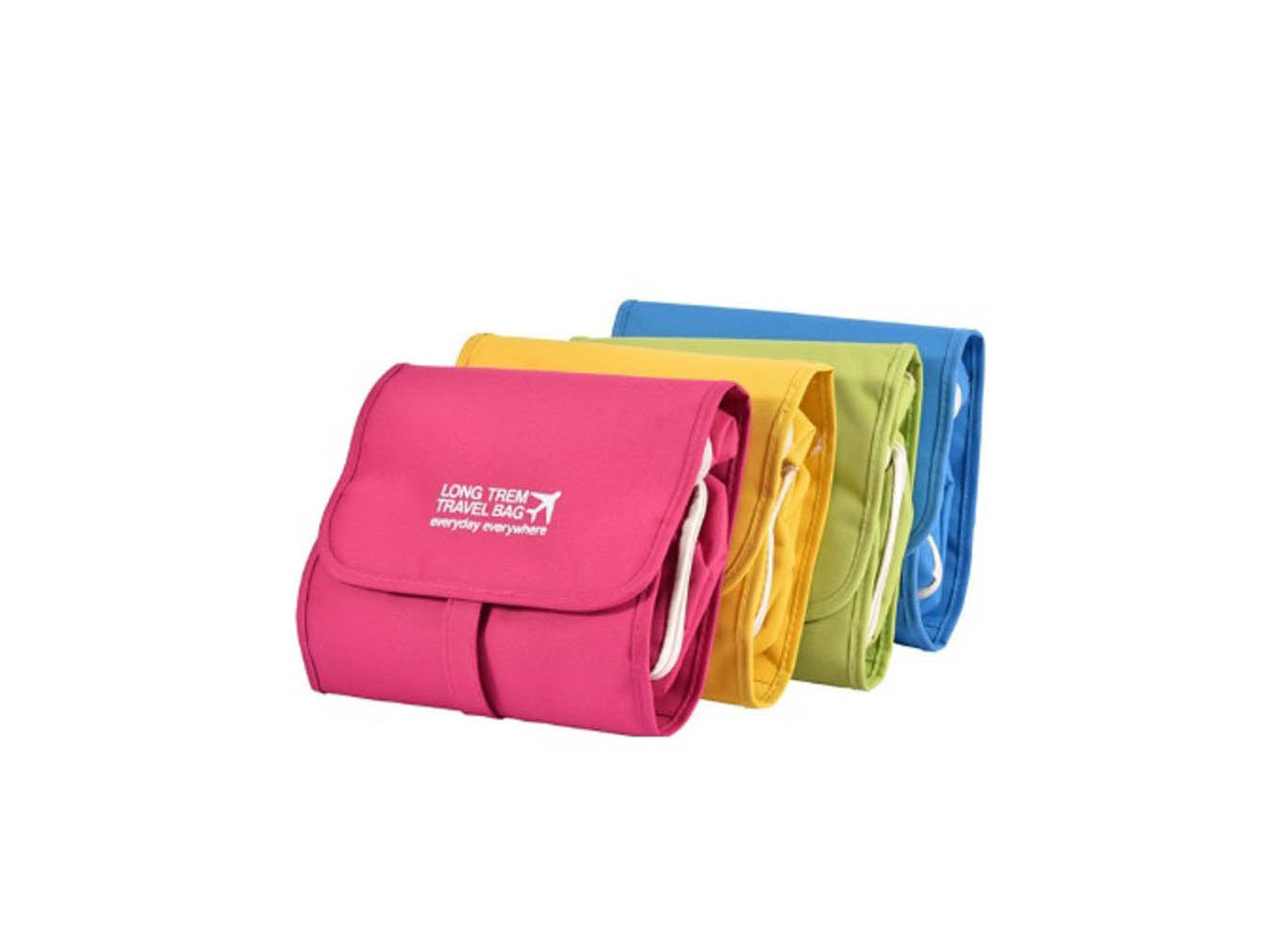Custom Printed Fold Up Travel Cosmetic Pouch