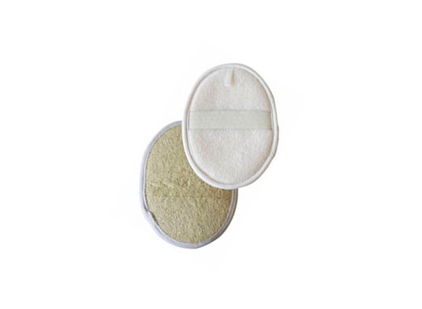 Custom Shaped Natural Loofah Facial Buff/ Bath Pad