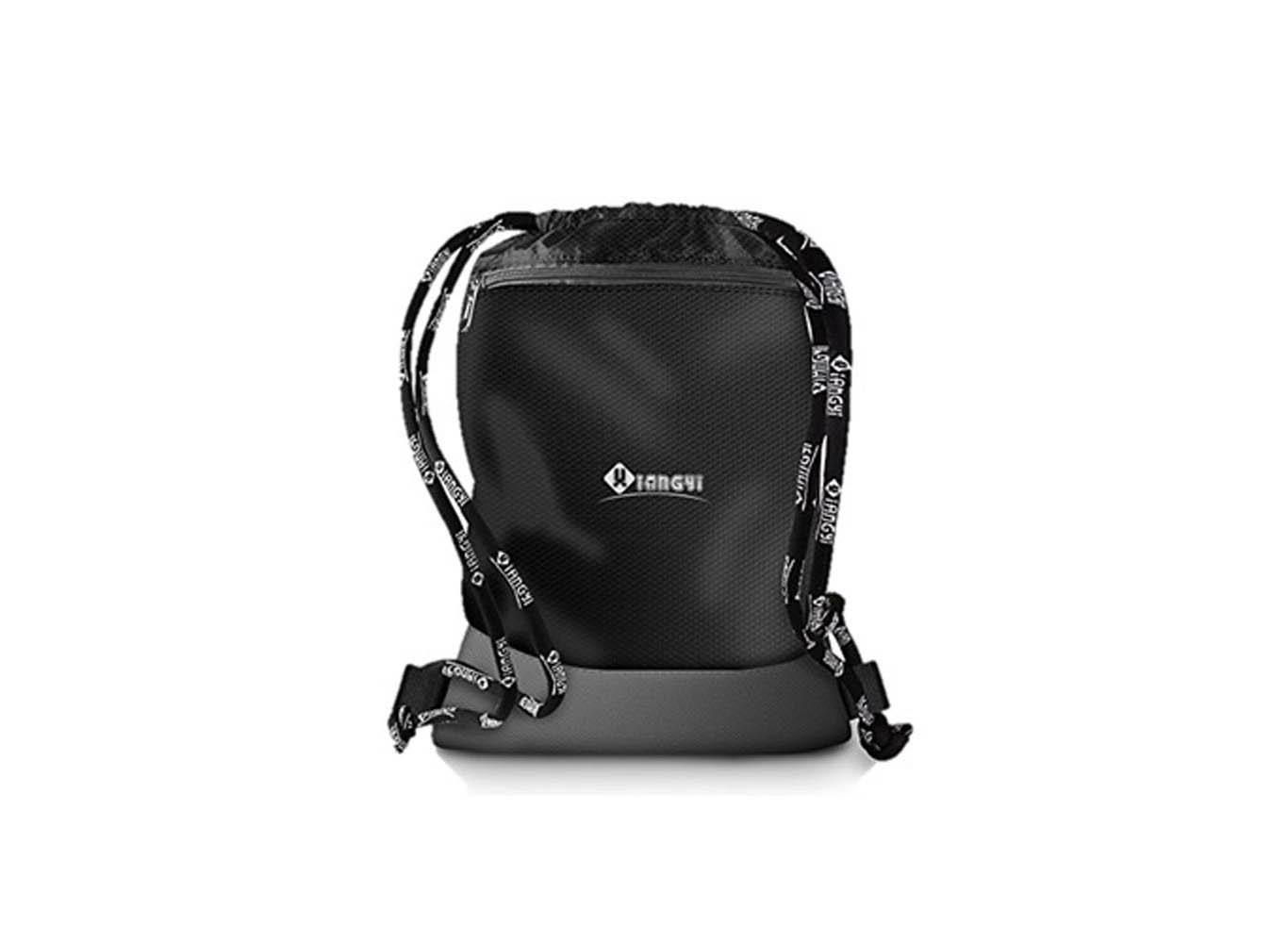Custom Design Drawstring Bag w/ Zippered Front Pocket