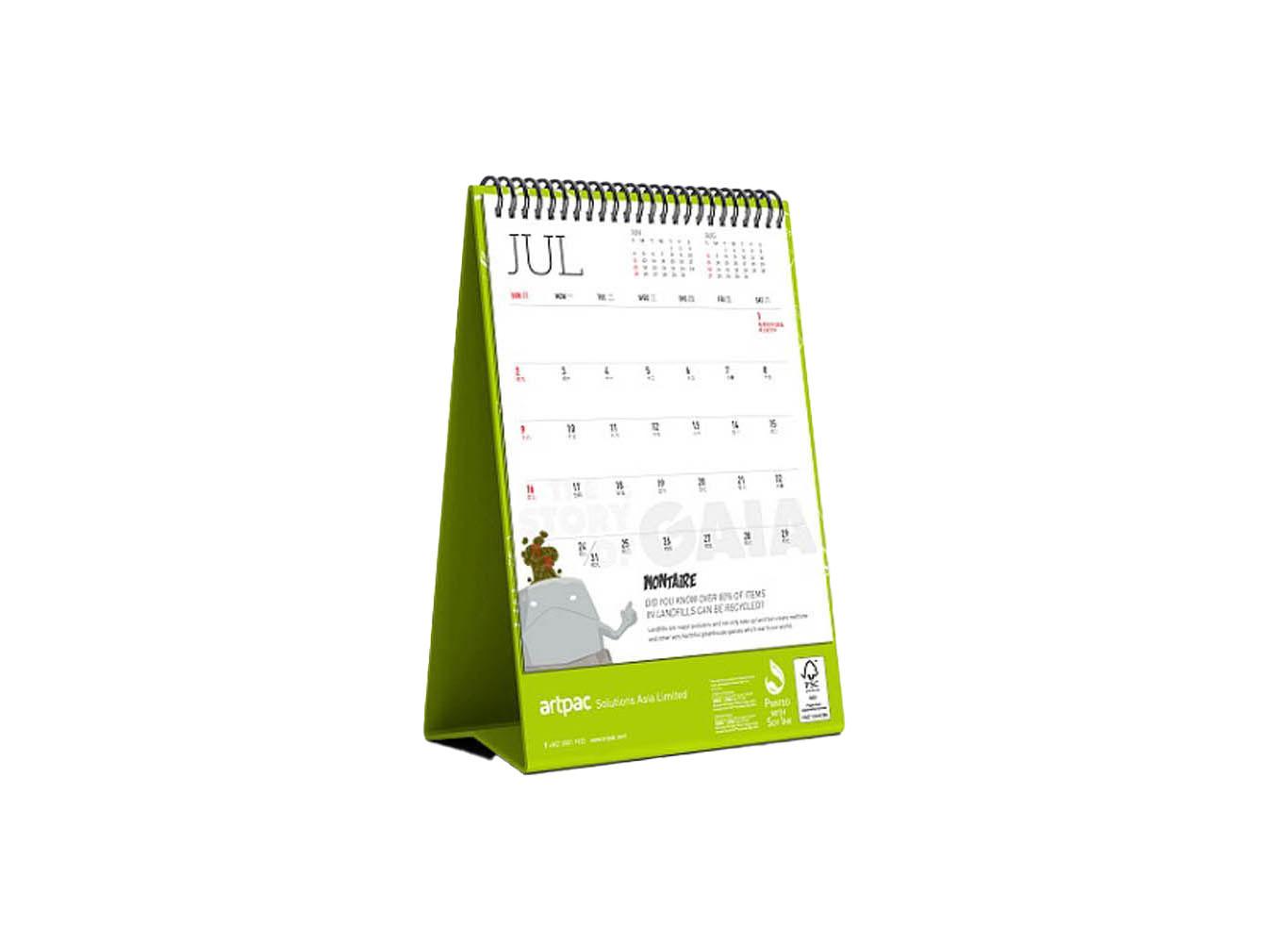 Custom Design Desk Calendar w/ Eco-Friendly Packaging