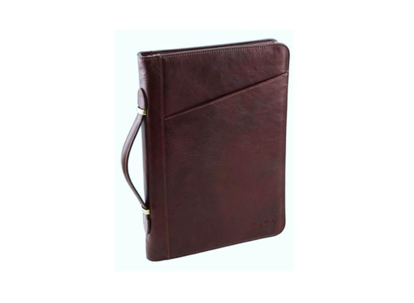 Custom Embossed Leather Portfolio Case/Business Briefcase