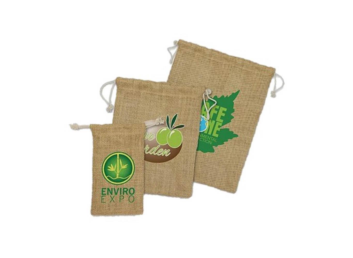 Custom Printed Drawstring Jute Bag