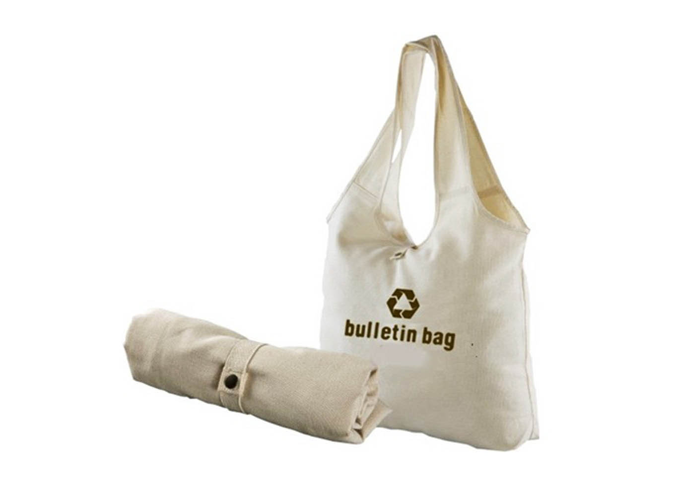 Custom Fold-Up Cotton Canvas Shoulder Bag