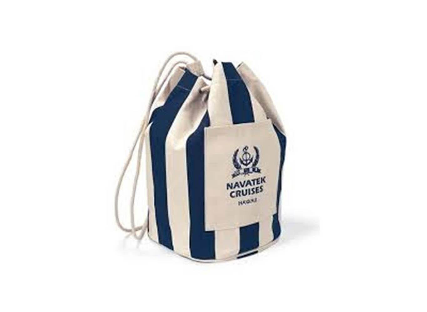 Custom Printed Cotton Drawstring Bucket Bag