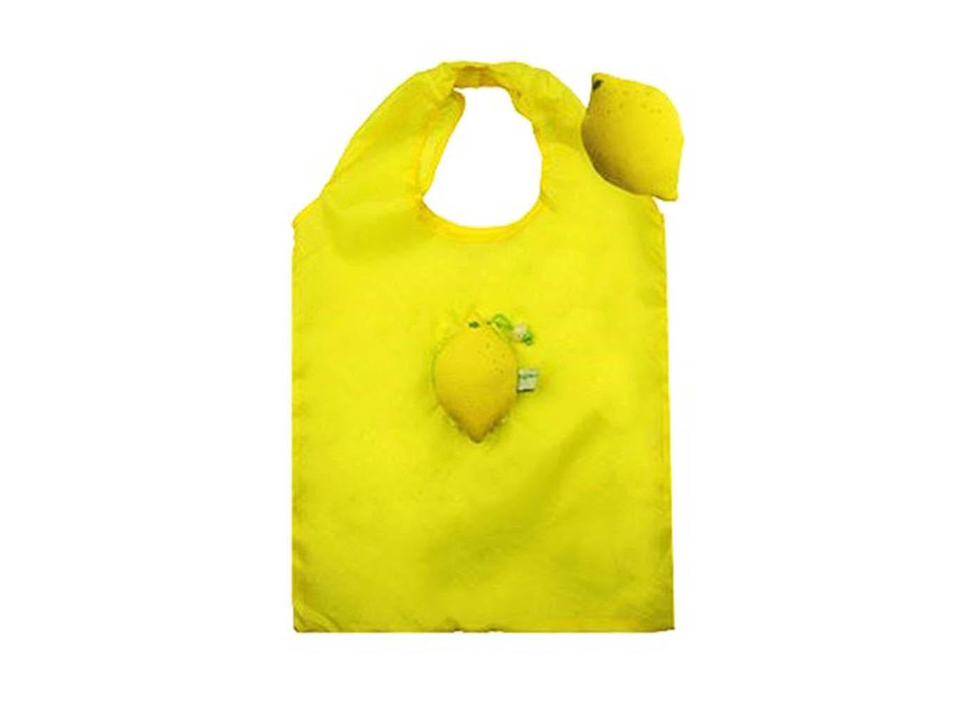 Custom RPET Lemon Shaped Fold Up Bag