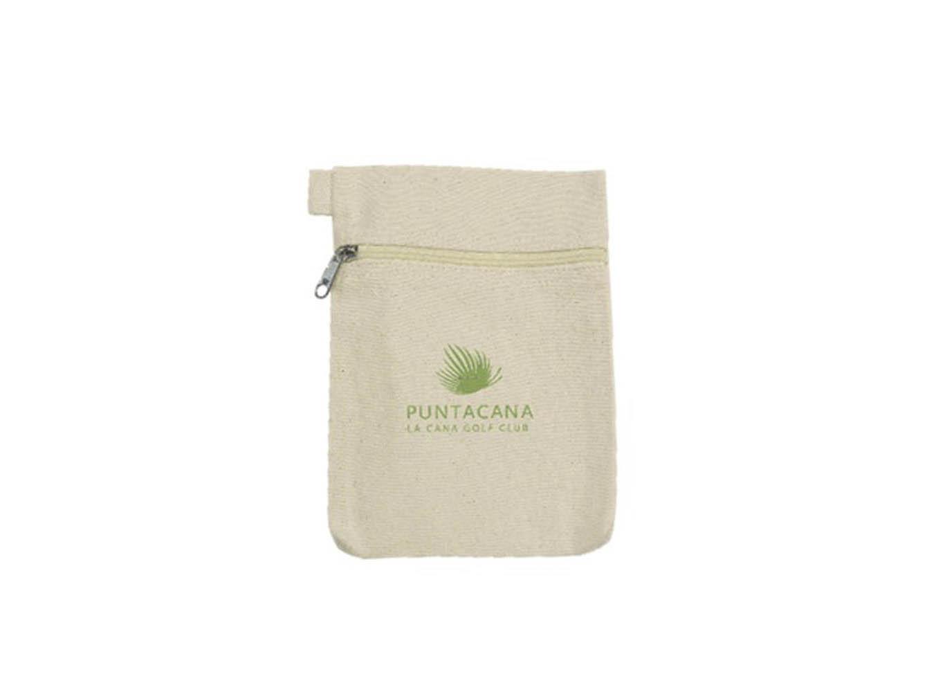 Custom Cotton Canvas Small Zipper Pouch