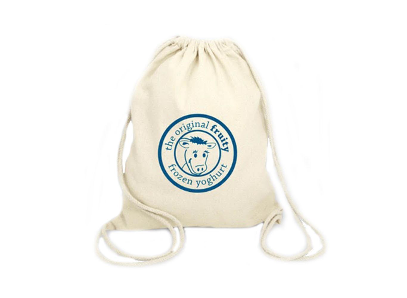 Custom Printed Cotton Canvas Drawstring Bag