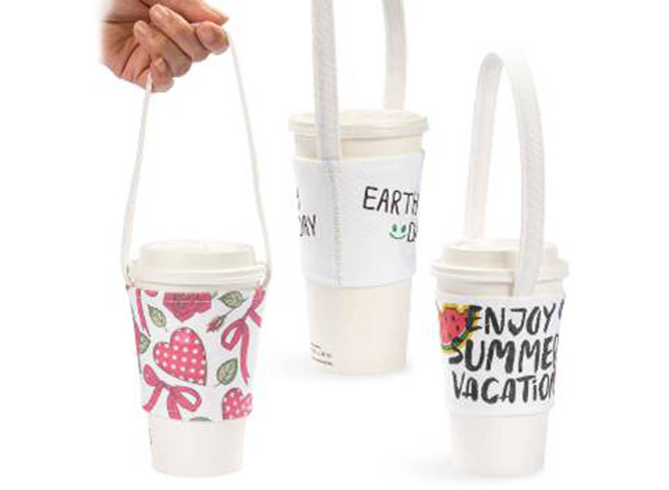 Eco Canvas Cup sleeve holder