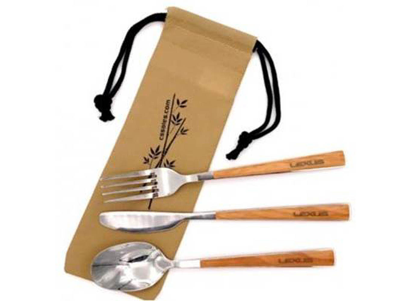 Stainless steel utensil cutlery set with pouch