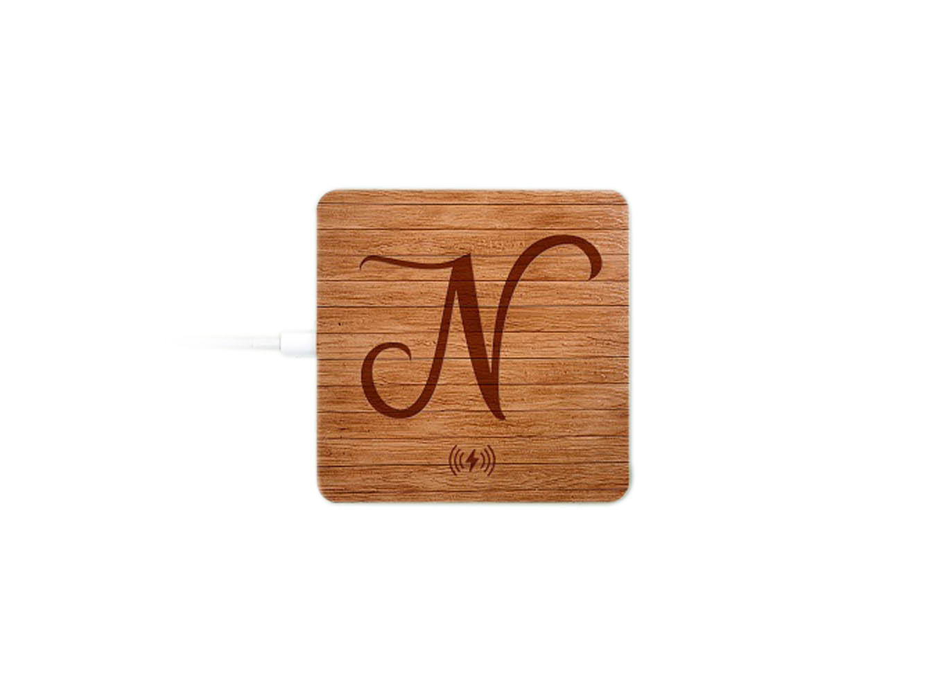Customized Wood Print Wireless Power Bank Charger