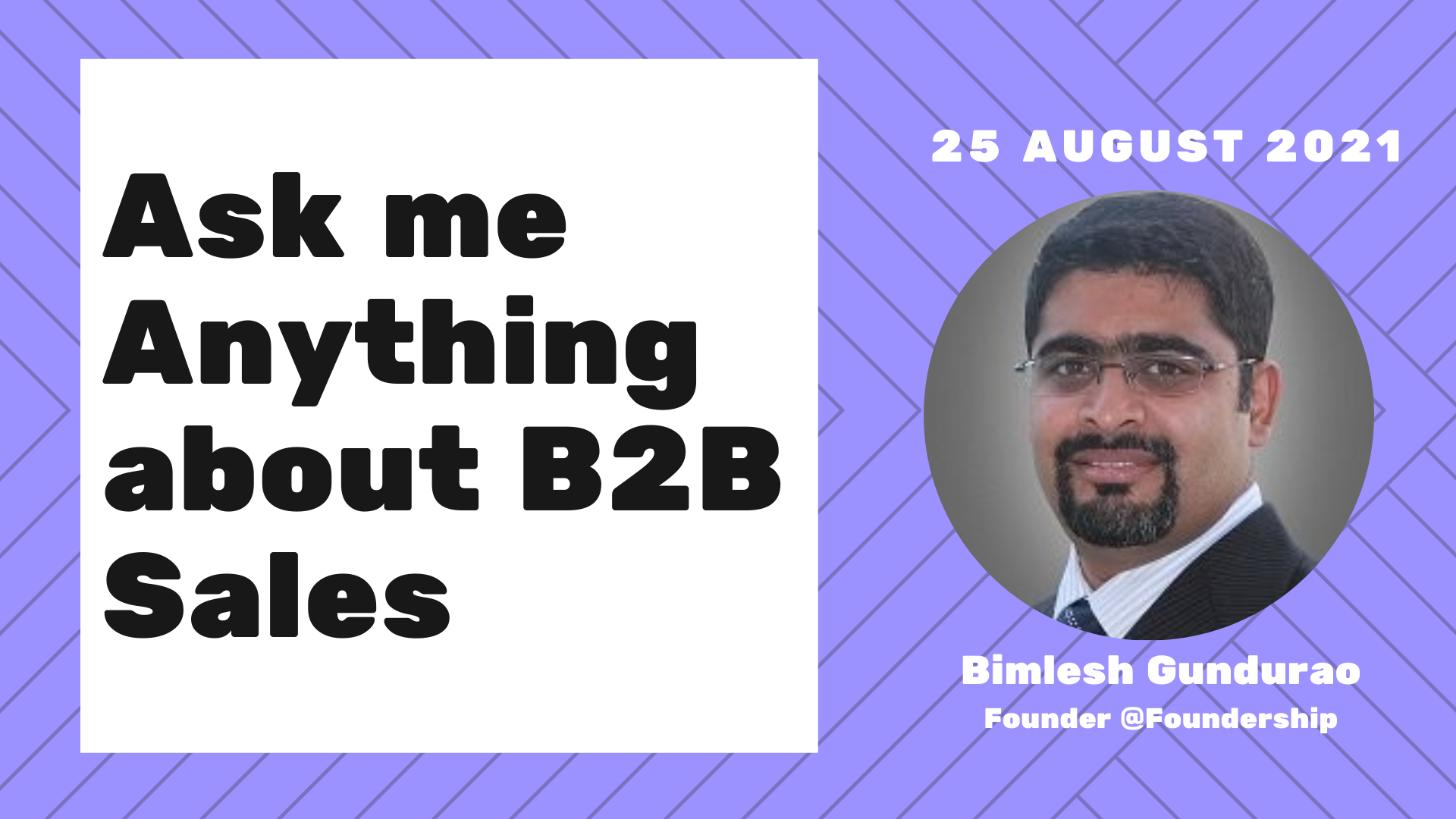 Ask me Anything about B2B Sales