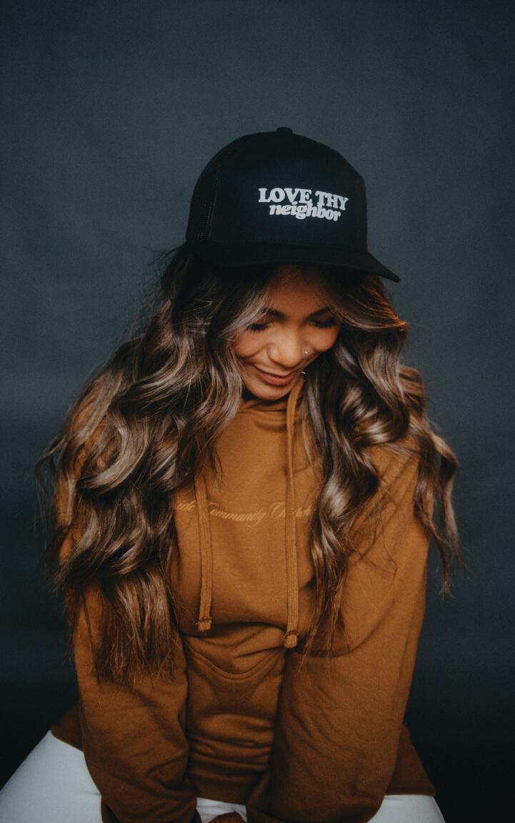 Love Thy Neighbor Vintage Trucker Hat