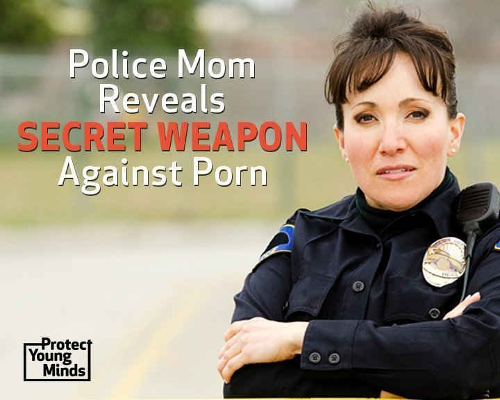 Female Police Officer —Protect Kids from Porn