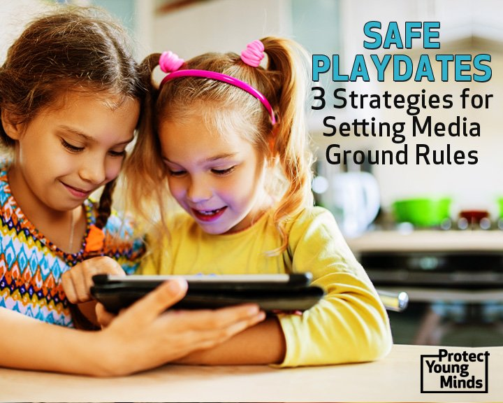 safe playdates two girls using tablet