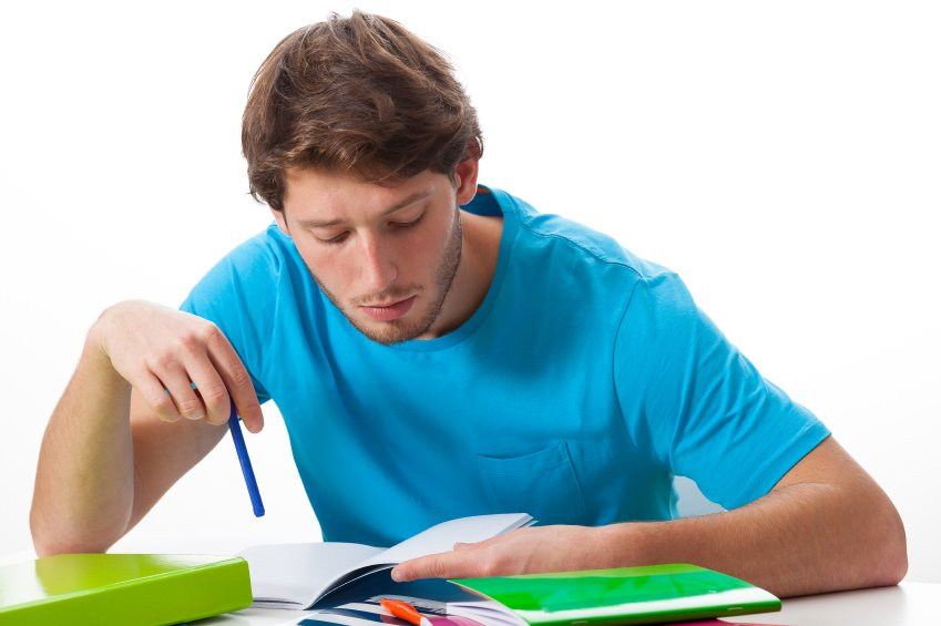 Student working on task