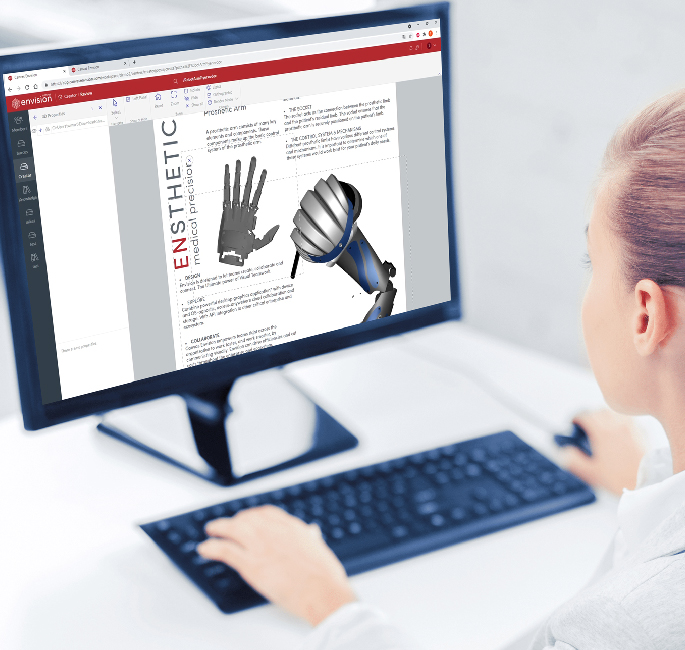 Person working with a 3D CAD model in Canvas