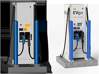 3D CAD model of an EV charging station