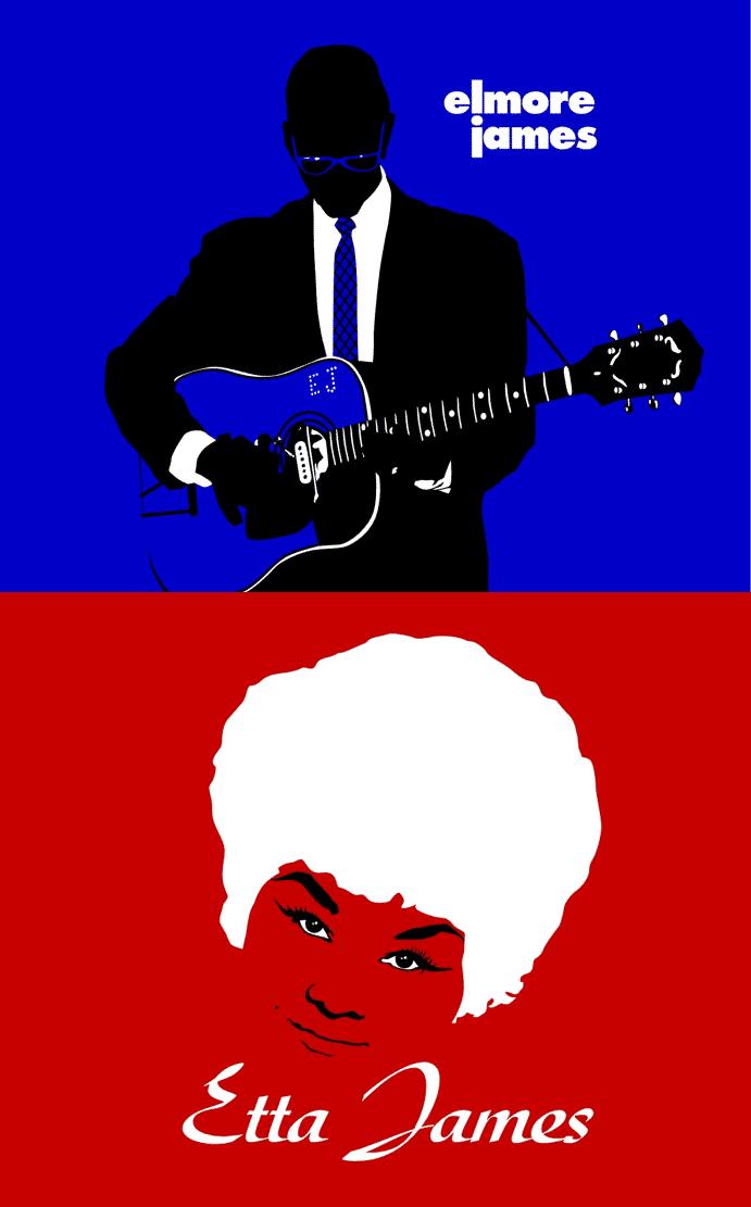 Elmore James and Etta James Graphic