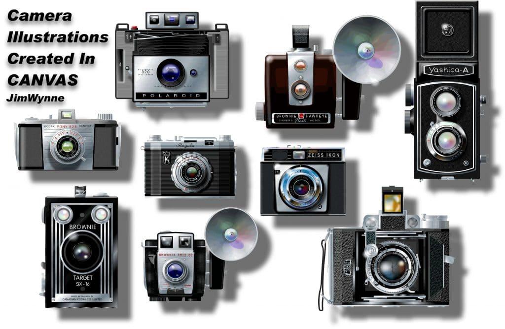 Jim Wayne camera illustrations