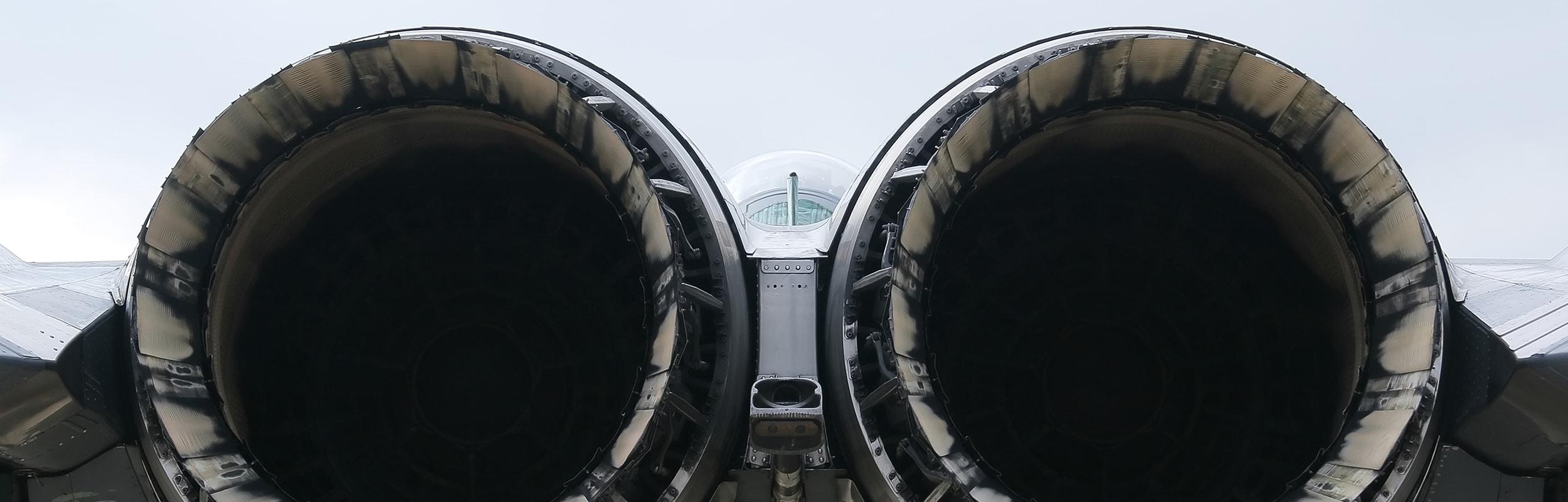 Big airplane engine