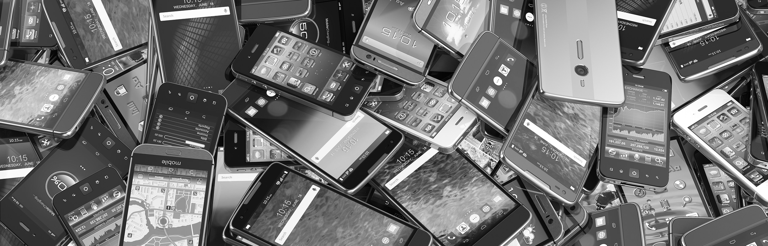 Big pile of cell phones