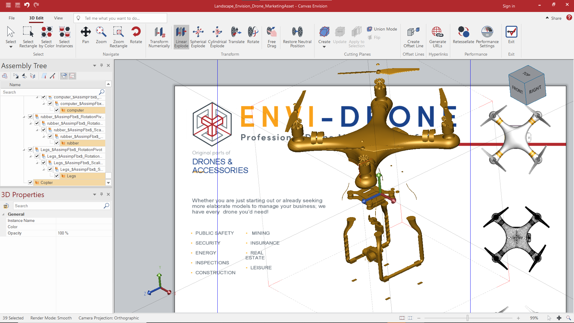 Creating an interactive Envision document
