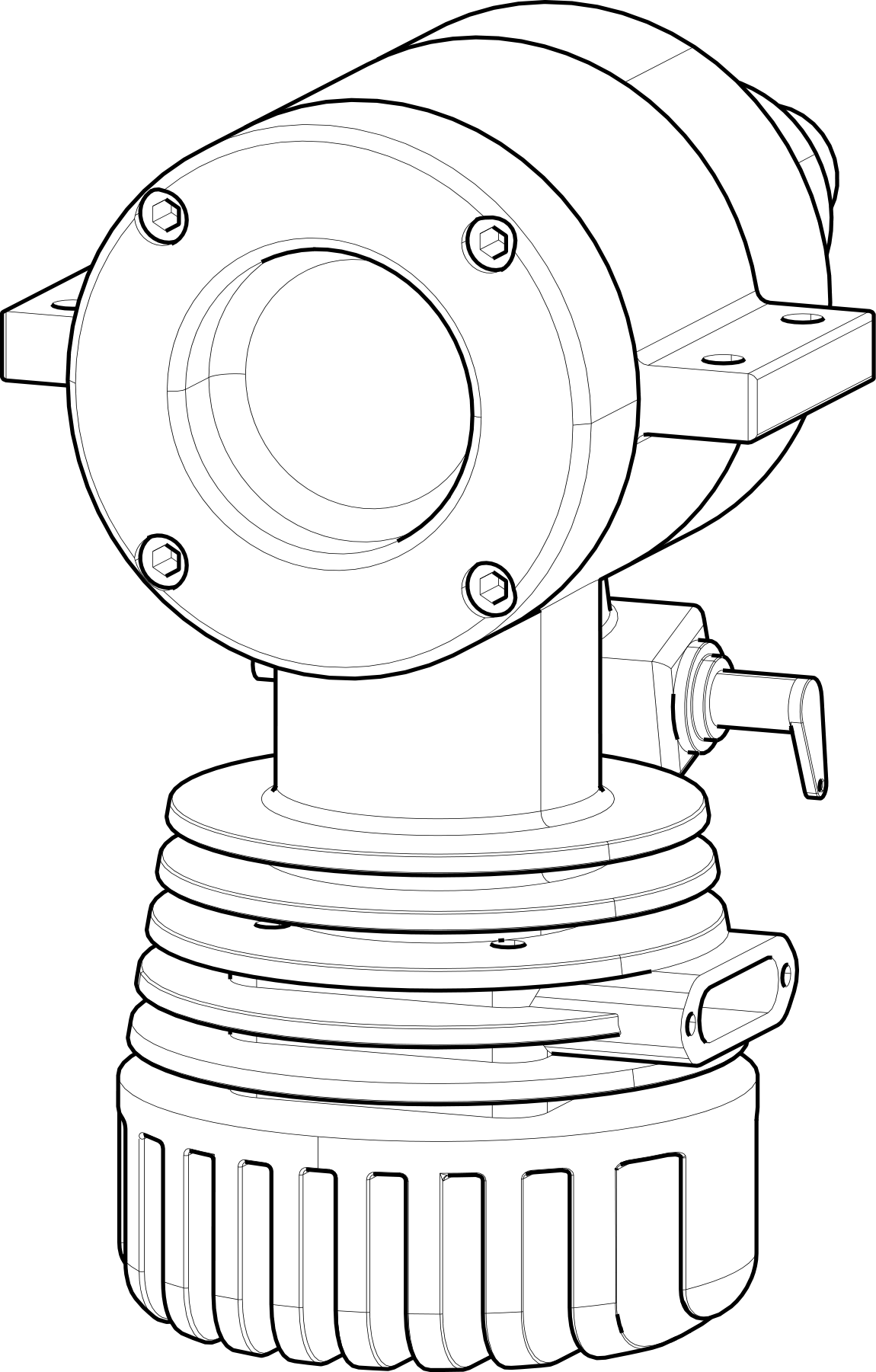 2D render of 3D model in Canvas Envision showing Thick/THin LInes