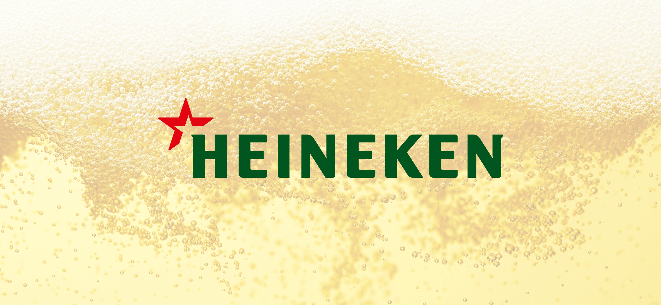 Beer background and Heineken logo
