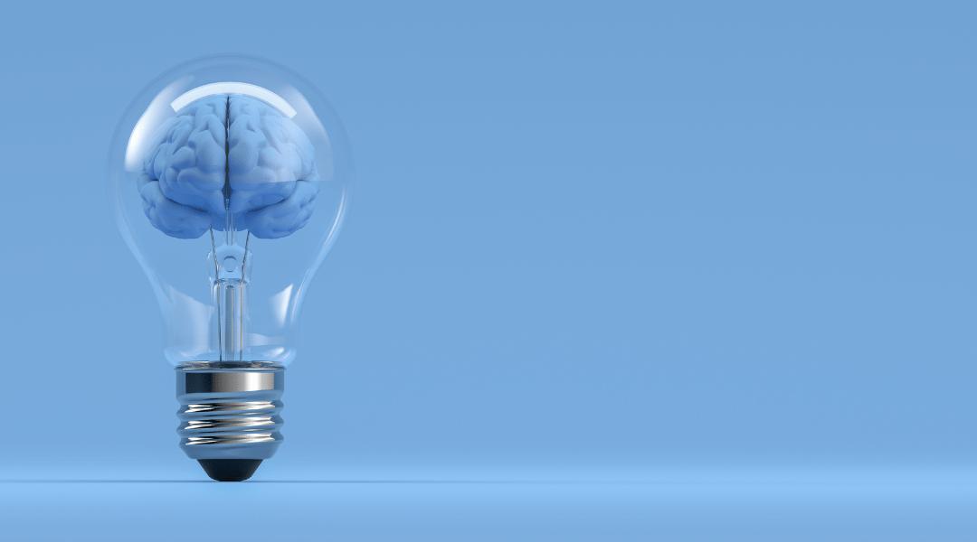 Picture of a brain inside a lightbulb