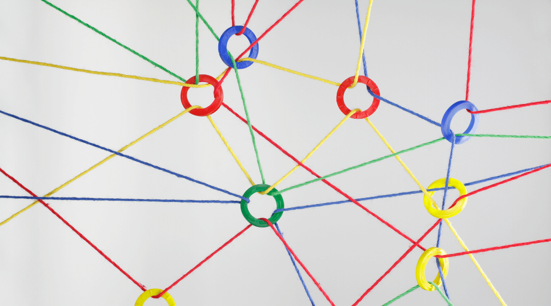 Cords and rings to represent a network