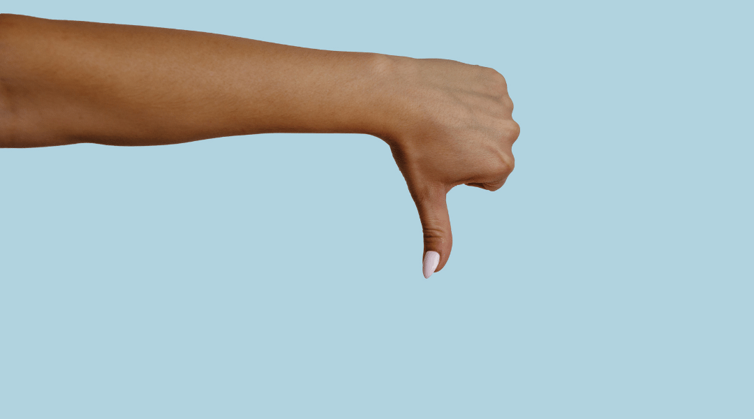 Hand with thumb down