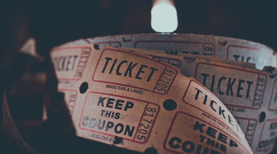 Roll of ticket stubs