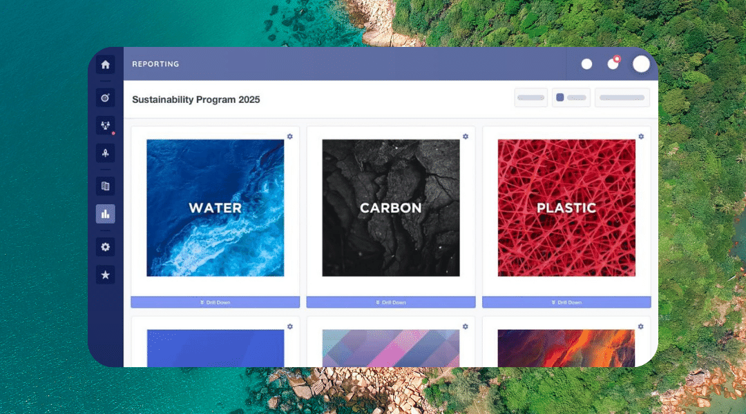 Picture of the Vizibl Sustainability product in-platform