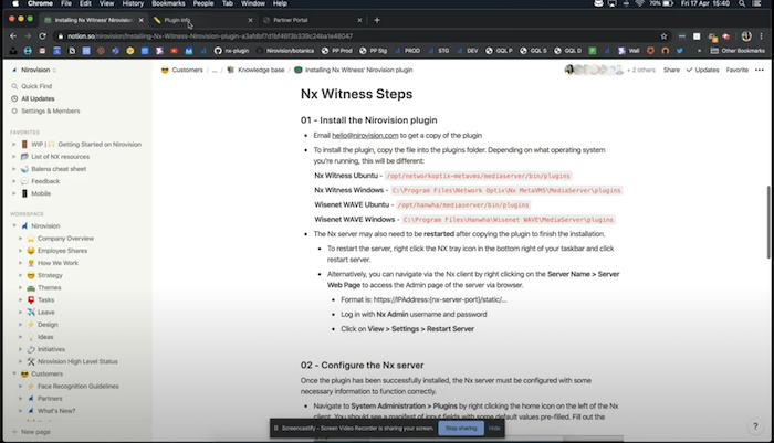 Nx Witness Integration – Setup