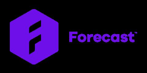Forecast partner's purple logotype.