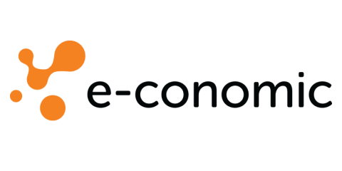 E-conomic partner's black and orange logotype.