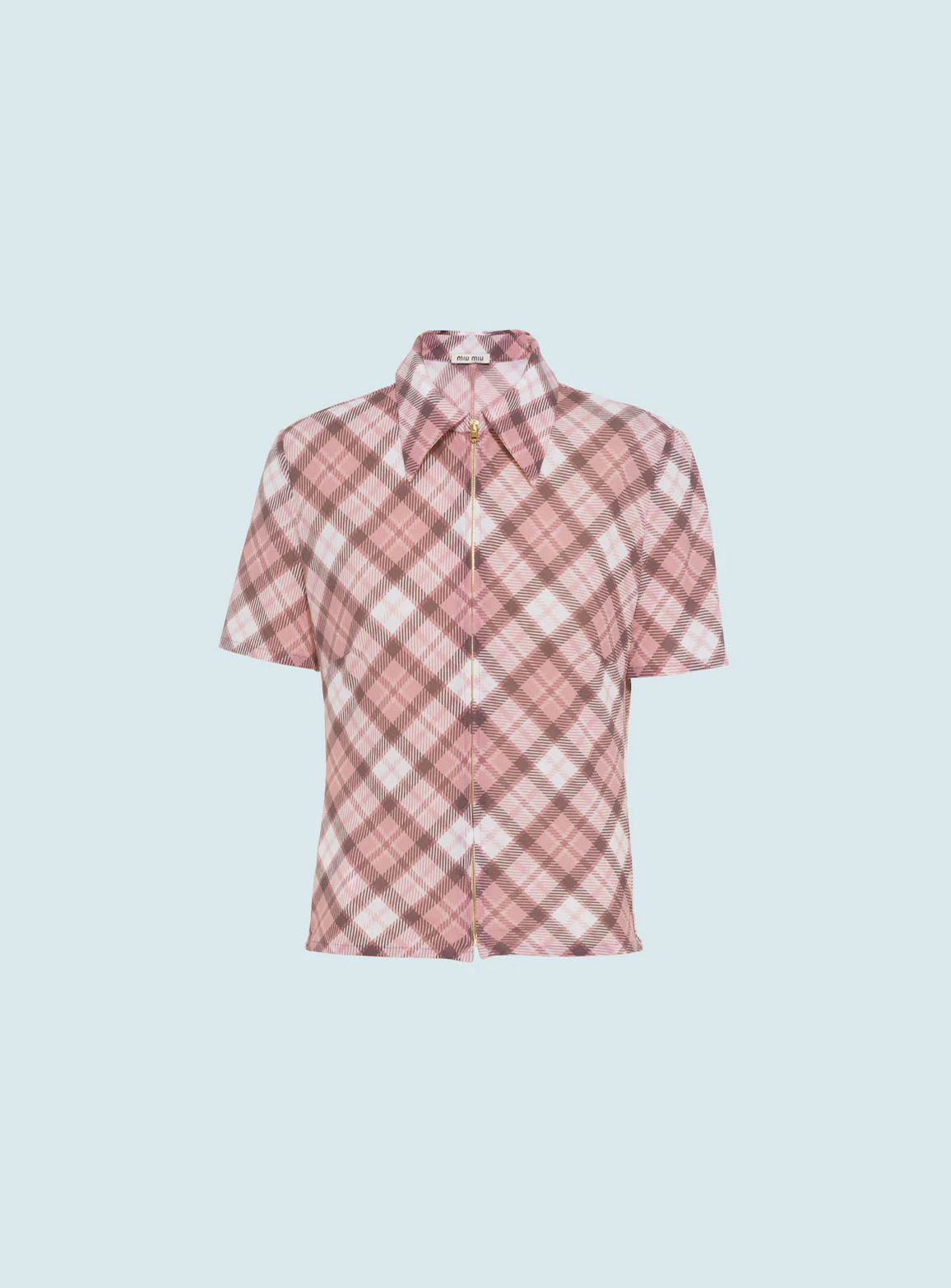Printed run-proof knit shirt
