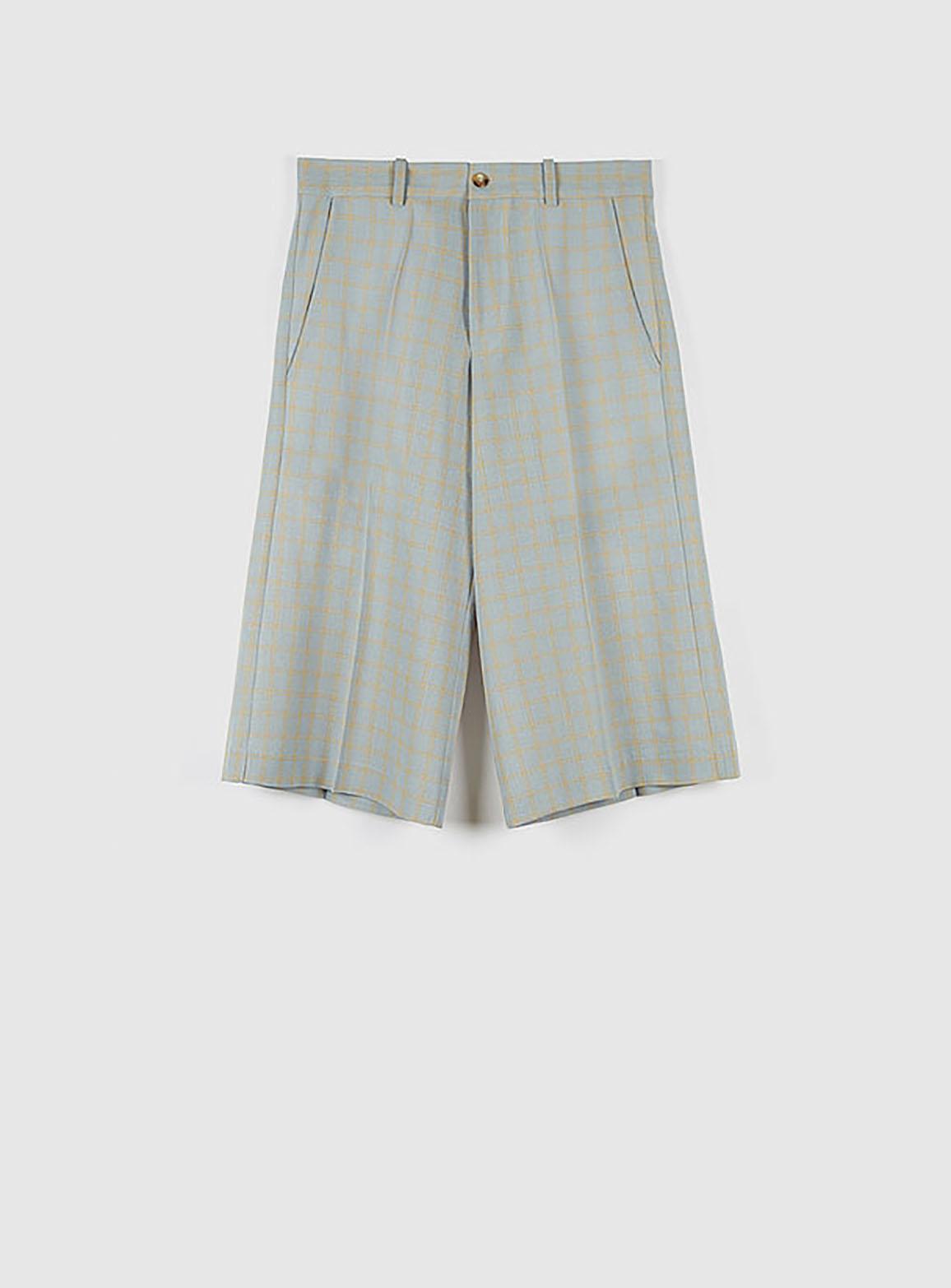 Bruce pants light blue/yellow checks