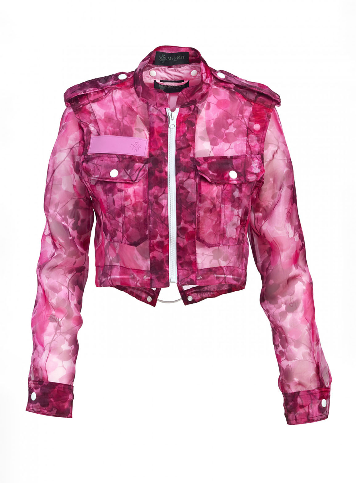 Jacket in blossom camouflage